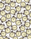 Alarm clocks background Royalty Free Stock Photography