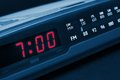 Alarm radio clock. Time to wake up Royalty Free Stock Photo