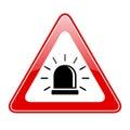 Alarm siren warning sign Royalty Free Stock Photo