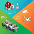 Alarm system. Security system. Security camera. Security control room. Security guard monitoring. Remote controlled home