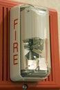 Alarmbrandlampa Arkivbild