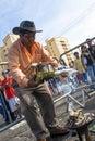 Alasitas festivity sao paulo brazil january bolivian immigrants during the a in honour of the ekeko the aymara god of abundance in Stock Image