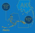 Alaska 3D Vector map info graphic Stock Photography