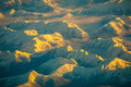 Alaska British Columbia Mountains seen from above the earth Royalty Free Stock Photo