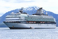 Alaska Celebrity Cruise Ship Icy Straight Point Stock Photo