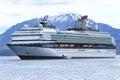 Alaska Celebrity Cruise Ship Icy Straight Point Royalty Free Stock Photo