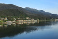 Alaska coastline at juneau from the cruise ship by Royalty Free Stock Photos