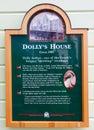 Alaska - Creek Street Dollys House Historic Marker Royalty Free Stock Photo
