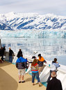 Alaska Cruise Passengers at Hubbard Glacier Royalty Free Stock Image