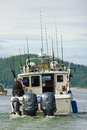 Alaska - Fishing Boat Auke Bay Juneau Royalty Free Stock Images
