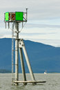 Alaska - Green Navigation Marker Auke Bay Stock Image