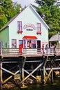 Alaska het huis van de beroemde dolly van de kreekstraat Stock Afbeeldingen