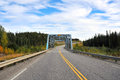 Alaska highway bridge Royalty Free Stock Photography