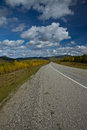 Alaska Highway north of Liard Hot Springs, BC Royalty Free Stock Photo