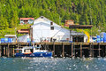 Alaska Hoonah Fish Processing Facility Stock Photo