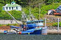 Alaska Hoonah Fishing Boats Royalty Free Stock Image
