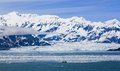 Alaska Hubbard Glacier and Mountains Royalty Free Stock Photos