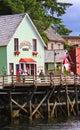 Alaska - Huis 2 van de Beroemde Dolly van de Straat van de Kreek Stock Fotografie
