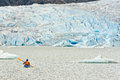Alaska Kayak Paddling Mendenhall Glacier Lake