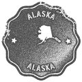 Alaska map vintage stamp. Royalty Free Stock Photo