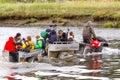 Alaska Photographers Riding ATV to go Brown Bear Viewing Silver Salmon Creek Royalty Free Stock Photo