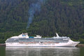 Alaska - Princess Cruise Ship Juneau Royalty Free Stock Photo