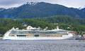 Alaska Radiance of the Seas Cruise Ship Ketchikan Royalty Free Stock Photo