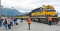 Alaska Railroad Cruise Ship Drop Off Royalty Free Stock Photo
