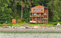 Alaska - Waterfront Living Near Juneau Stock Photography