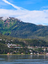 Alaska - West Juneau Homes Royalty Free Stock Image