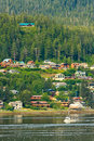 Alaska - West Juneau Waterfront Homes Stock Images