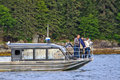 Alaska - Whale Watching Bow of Small Boat Juneau Stock Photo