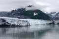 Alaskan glacier part of hubbards alaska on a gloomy summer day Stock Photography