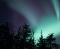 Alaskan northern lights Stock Photo