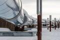 Alaskan Pipeline Royalty Free Stock Photo