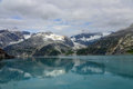 Alaskan reflections view of mountains reflecting off glacier bay alaska Royalty Free Stock Images