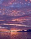 Alaskan Sunset Stock Photography