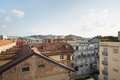 Alba roof tops of the city in Piedmont, Italy Royalty Free Stock Photo