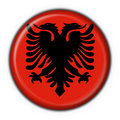 Albanian button flag round shape Stock Photography