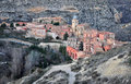 Albarracin village in teruel spain Royalty Free Stock Image