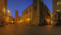 Albenga at nigth the place in area of the medieval towers of Stock Photography