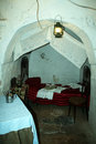 Alberobello bedroom a typical traditional at in italy Royalty Free Stock Images