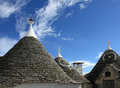 Alberobello details of trulli roofs Stock Photos