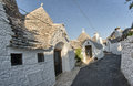 Alberobello italy beautiful view of trulli typical homes Stock Photography