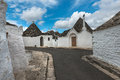 Alberobello italy italian old street in Royalty Free Stock Photos