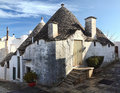 Alberobello street view Stock Photography