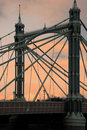 Albert bridge at sunset Royalty Free Stock Images