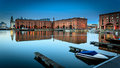 Albert dock liverpool in england is the tourist attraction on the waterfront Royalty Free Stock Photos