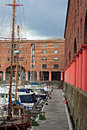 Albert dock liverpool uk view of Royalty Free Stock Photo