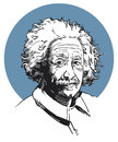 Albert einstein an illustrated portrait of the famous scientist Royalty Free Stock Photo